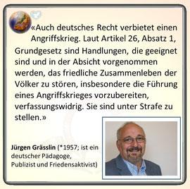 Friedenszitat vonJürgen Grässlin