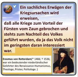 Friedenszitat von Erasmus von Rotterdamm