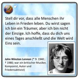 Friedenszitat von John Lennon