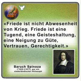 Friedenszitat von Baruch Spinoza