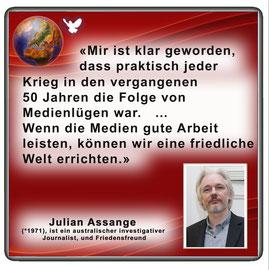 Friedenszitat von Julian Assange