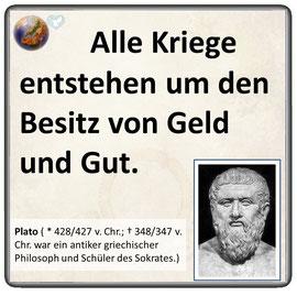 Friedenszitat von Plato