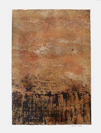 sin título, 2004, técnica mixta sobre papel, 65 x 50 cm