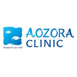 店舗ロゴ筆文字デザイン『AOZORA CLINIC』デザイン書