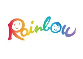 筆文字ロゴデザイン『Rainbow レインボウ』デザイン書