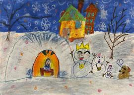 銀賞「夜の雪だるま」王 裕馨