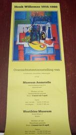Poster exposite Museum Aemstelle, Amstelveen en Westfries Museum, Hoorn in 1985