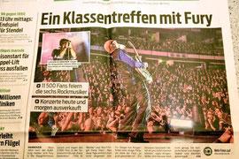 """Titelseite der Lokalzeitung """"Neue Presse"""""""
