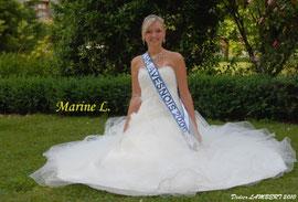 Marine Lecolier - Miss Avesnois 2009 - Echarpe du Prix de la Sympathie
