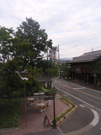 小布施のどまんなか、竹風堂さんの2階からの景色