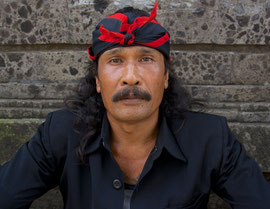 Bali, Ubud: portrait of a man named Made