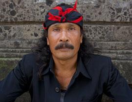 Bali, Ubud: portrait of a man named Made