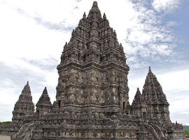 Java: Hindu temple of Prambanan (built c. 850 AD)