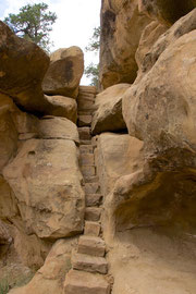 Mesa Verde, Colorado: the trail leading to the Indian petroglyphs