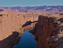 Arizona: the view over the Colorado river from the Navajo Bridge on Rte 89A