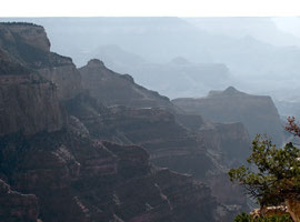 Grand Canyon, north rim: the view from Cape Royal
