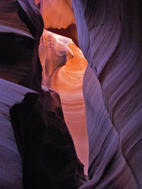 Arizona, Page: interior of the upper Antelope slot canyon
