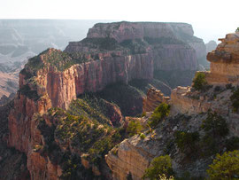 Grand Canyon, north rim: the view of Wotan's Throne from Cape Royal