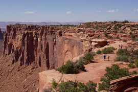 Canyonlands National Park, Utah: the trail to Grand View Point Overlook