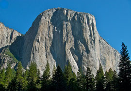 California, Yosemite National Park: the rock face of El Capitan (7569 feet, 2307 metres)