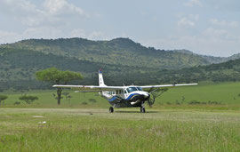 Tanzania; we arrived at Klein's Camp, on the northern boundary of the Serengeti, on a Coastal Aviation flight