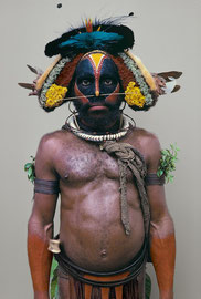 PNG, Southern Highlands, Huli tribe: a man named Mokai from PIribu village