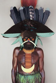PNG, Western Highlands, Baiyer River, Melpa tribe: a man named Moga from Andinga village