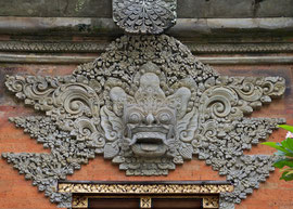 Bali: decorative detail at Ubud palace