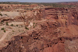 Canyonlands National Park, Utah: the trail leading out of Shafer Canyon