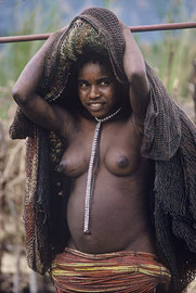 W. Papua, Baliem Valley: portrait of a Dani girl