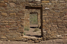 Chaco Canyon, New Mexico: the great kiva at Casa Rinconada
