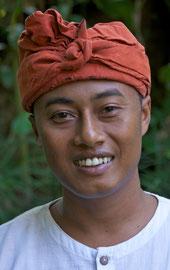 Bali, Ubud: Staff member named Made, Villa Bambu Indah