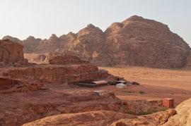 Jordan, Wadi Rum: our campsite