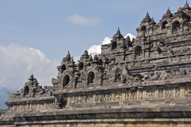 Java: the 8th century Buddhist stupa & temple of Borobudur