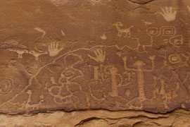 Mesa Verde, Colorado: ancient Indian petroglyphs