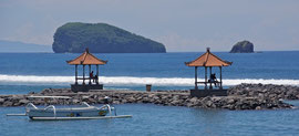Bali: the waterfront at Candidasa