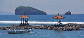 Bali: the waterfront at Candidasa