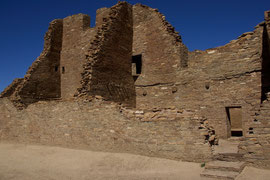 Chaco Canyon, New Mexico: a structure in Pueblo Bonito
