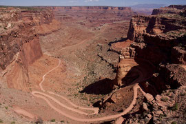 Canyonlands National Park, Utah: the trail leading down into Shafer Canyon