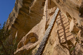 Mesa Verde, Colorado: ladder ascent to Balcony House