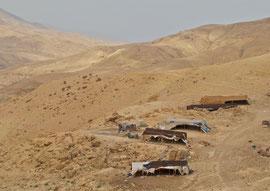 Jordan, Wadi Mujib: a Bedouin settlement