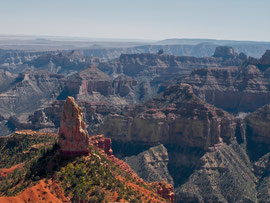 Grand Canyon, Arizona, North Rim: the view from Point Imparial with Mt. Hayden in foreground