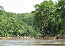 Tanzania, Selous game reserve: Stiegler gorge, upstream from Sand Rivers camp, is named after a Swiss hunter who was killed here by elephants in 1907