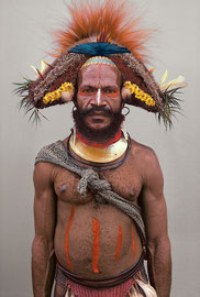 PNG, Southern Highlands, Huli tribe: a man named Nabe from Karida village