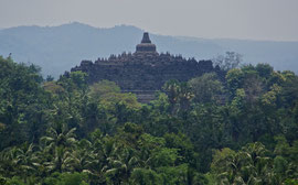 Java: Borobudur viewed from the Plataran hotel