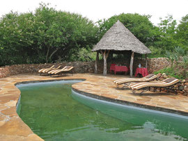 Tanzania, Klein's Camp: the small plunge pool