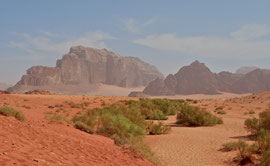 Jordan, Wadi Rum: desert landscape
