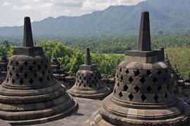 Java: the 8th century Buddhist stupa & temple of Borobudur