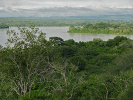 Tanzania, Selous game reserve: a view of the Rufiji river from above our camp at Sand Rivers