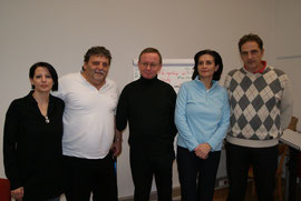 Doris, Franz, Frank und Franziska mit dem KOBV-Präsidenten Mag. Michael Svoboda.